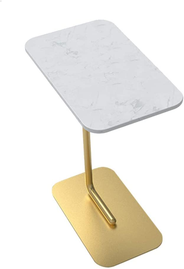 Beste Keuze Axdwfd bijzettafel Marmer C-vormig Woonkamertafel, Metalen salontafel, nachtkastje, 50cmx30cmx60cm A CQxmk5R