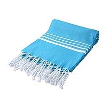 "Cacala Pestemal Turkish Bath Towels Striped Bath Beach Sauna Luxury Peshtemal 37x70"" Hawaiian Ocean"
