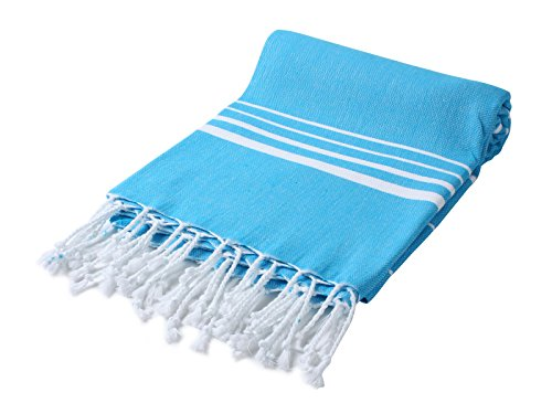 Cacala Pestemal Turkish Bath Towels Striped Bath Beach Sauna Luxury Peshtemal 37x70 Hawaiian Ocean ()