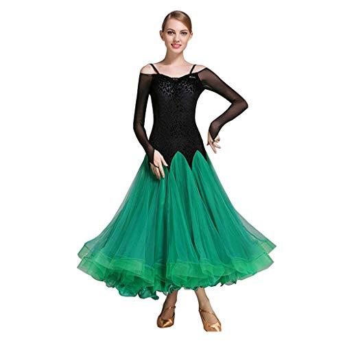 716295b68dc9c YTS Modern Dance Skirt Ballroom Dance Skirt, Spring and Summer Competition  Dress (Color :