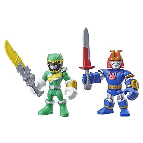 (Playskool Heroes Power Rangers Green Ranger and Ninjor)