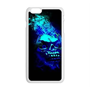 Black Blue Skull Custom Protective Hard Phone Cae For Iphone 6 Plus