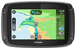 TomTom GPS para Moto Rider 420 - MAPAS DE Europa OCCID. (48 Paises) para Toda LA Vida - Pantalla 4.3'/11CM - BT - Resistente AL Agua - Soporte RAM