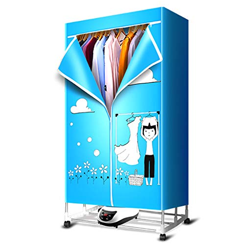 Electric Hanging Steel Stainless Heater (YD-Shop Clothes Dryer - Baby Wardrobe Dryer Household Silent Stainless Steel Clothes Dryer Foldable, Fast Dry Negative Ion Load Capacity Up to 30KG, Remote Control/PTC (Color : A))