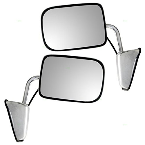Dodge Mirror W250 Glass - Driver and Passenger Power Side View Chrome Mirrors 6x9 Replacement for Dodge Pickup Truck SUV 55154669 55154668