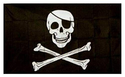 (2x3 PIRATE FLAG - - - - - Skull + Bones Flag - - - - Jolly Roger 2x3ft Poison)