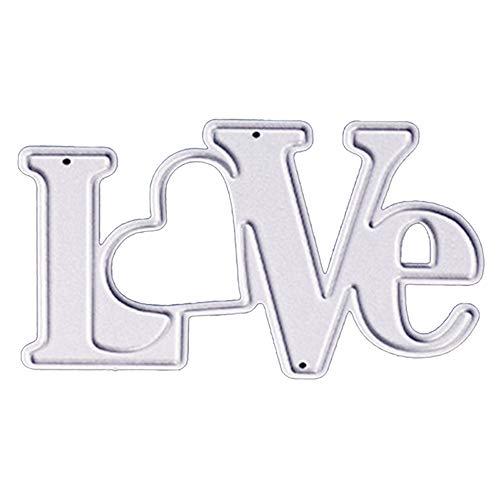 Metal Craft Words Love Cutting Dies 1.5