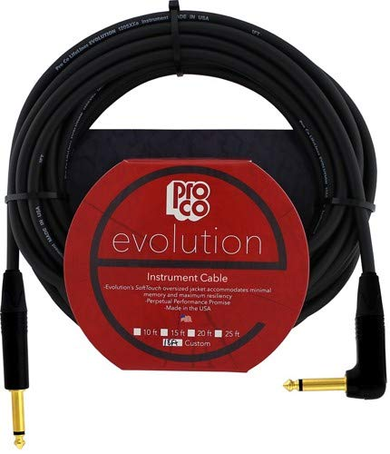 Pro Co 10' Evolution Guitar Cable - -