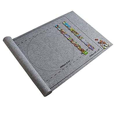 Pentaero Jigsaw Puzzle Roll Mat Felt Mat for Puzzle Storage Puzzle Saver, Store Jigsaw Puzzles Up to 1,500 Pieces No Folded Creases, Environmentally Friendly,Can Store Unfinished Puzzles (Gray): Garden & Outdoor