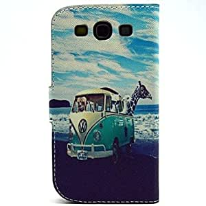 WQQ Samsung S3 I9300 compatible Graphic/Special Design Plastic/PU Leather Full Body Cases/Cases with Stand