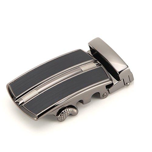 Internal Ratchet (SQUEPLE Men's Alloy Ratchet Belt Buckle Automatic Buckle (3.5cm width)ray QD461&841)