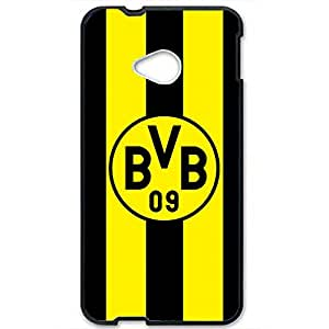Borussia Dortmund Logo Phone Case for Htc one m7 3D Black Slip On Cover