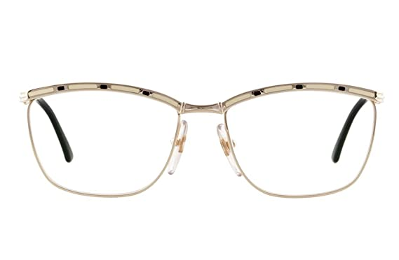 bd9b984bf67 Christian Dior Retro Americana Clear lens - embellished metal frame glasses  Women Gold-One Size  Amazon.co.uk  Clothing