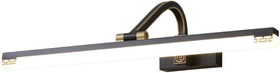 0 シンプルなミラーキャビネットライト、ミラーフロントライト防水の光源をLEDのすべての銅バスルームとトイレ 0 (Size : 72cm)