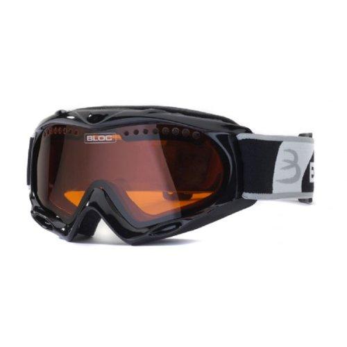 Bloc Shimmer Ski und Snowboardbrille–Schwarz