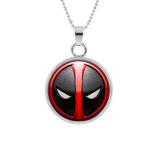 Deadpool Pendant Necklace Marvel Comics Movies Cartoon Superhero Logo Theme Ryan Reynolds Premium Quality Detailed Cosplay Jewelry Gift Series -