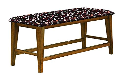 """Counter Height 25"""" Tall Universal Bench in an Oak Finish Featuring a Padded Seat Cushion With Your Favorite Novelty Themed Fabric (Soccer) by The Furniture Cove"""