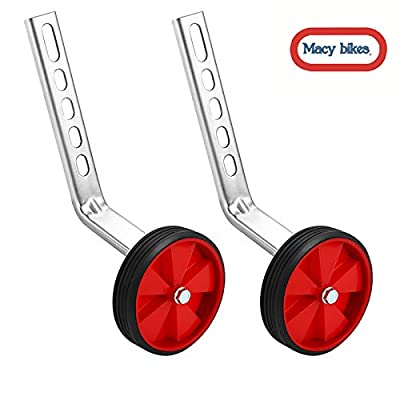 MacyHS Training Wheels for Children's Bicycle stabiliser(for 12 14 16 18 20 inch Bike) (5Red) : Sports & Outdoors