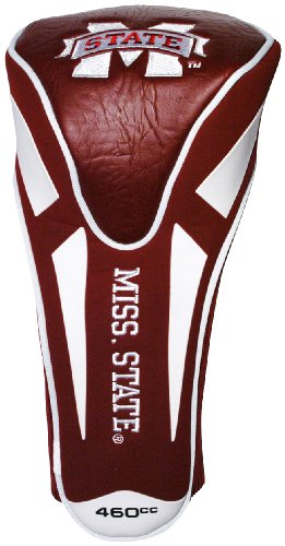 State Club Bulldog Mississippi - Team Golf NCAA Mississippi State Bulldogs Golf Club Single Apex Driver Headcover, Fits All Oversized Clubs, Truly Sleek Design