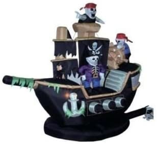 Inflatable Skeletons & Ghosts on Pirate Ship Decoration