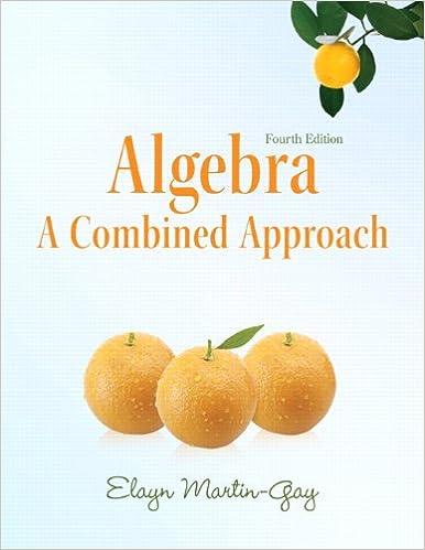 Book Algebra: A Combined Approach (4th Edition) (Martin-Gay Developmental Math Series)
