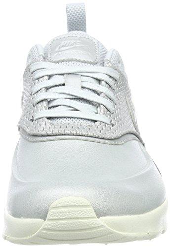 Nike Dame Air Max Thea Førsteklasses Læder Sneaker Silber (metallisk Platin / Ren Platin) ksz8p