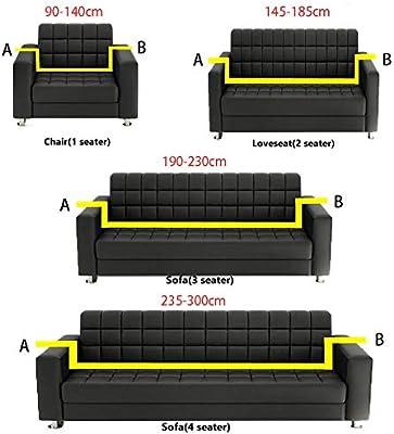 CHYOOO Funda De Sofa Sofá Protector Transpirable con ...