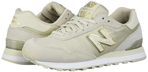 New Balance Women's 515 V1 Sneaker, Oyster/Gold Metallic, 5.5 M US