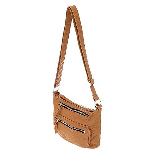 Tan Brown Faux Claire's Leather Girl's Girl's Bag Crossbody Claire's Faux w8qgHRa1