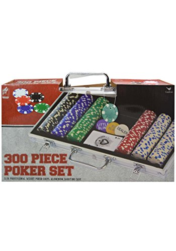 Double Dice Poker Chips - Cardinal 300 Ct. Poker Chips 11.5 gram in Aluminum Case (styles will vary)