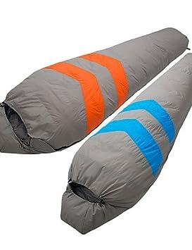 ZQ de viento Tripolar/mantener caliente/frío nylon/duckdown saco de dormir azul/naranja FA2926 X, naranja: Amazon.es: Deportes y aire libre