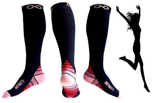 Compression Socks (1 pair) for Men & Women - BEST for Running, Nurses, Shin Splints, Flight Travel, & Maternity Pregnancy - Boost Athletic Stamina, Circulation & Recovery (i-Pink, Small/Medium)