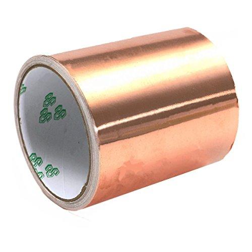 Pure Copper Foil EMI Single Side Conductive Guitar Shielding Tape 100mm x 5M ()