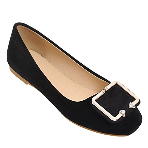 Mee Shoes Women's Dolly Flat Slip On Court Shoes Black