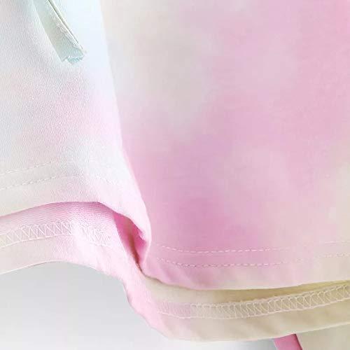 Sky Sweatshirt Women's Patchwork Hoodie Sleeve Blouse Tops Long Printed Morwind Blue Pullover 1Zq47f1