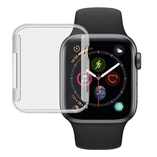 Compatible with Apple Watch Series 4 Screen Protector 44mm,Candywe 2018 New iwatch Cover TPU Protection case with 0.3mm HD Clear Ultra-Thin,Case for Apple Watch Series 4