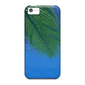 Hot Pin Palm Trees Courtyard First Grade Tpu Phone Case For Iphone 5c Case Cover