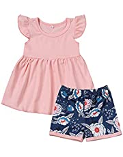 Yoveme My First Christmas 4Pcs Outfit Baby Girl Boy Clothes Romper+ Hat +Headband+ Deer Print Pants
