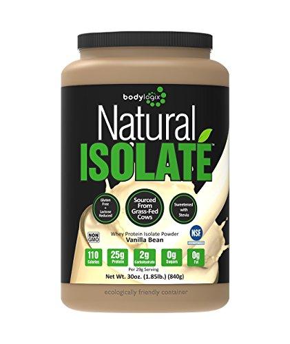Natural Vanilla - Bodylogix Natural Whey Protein Nutrition Shake, Isolate Vanilla, 1.85 Pound