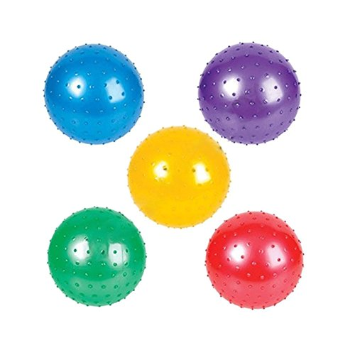 Adorox 5 Pack 8 Colorful Knobby Balls Bouncy Party Favors Toys Assorted