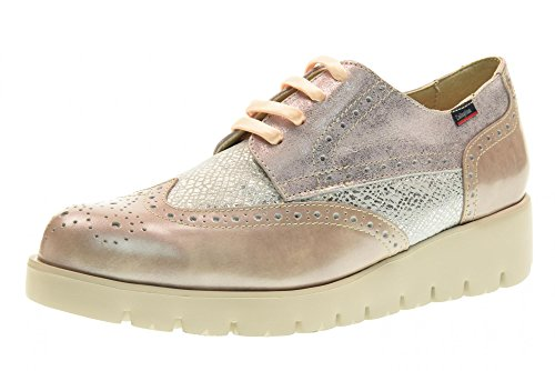 Grey Leather Blucher Callaghan Pink adEITa