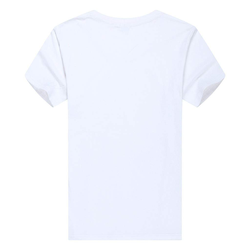 Trigle Men Fashion Solid Style Cotton Design Double Needle Stitching Neck Sleeve T-Shirt Casual Shirts Tops Blouse 6per