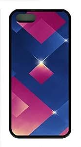 iPhone 5 5S Case The 3D Blue Pink Light emitting Body TPU Custom iPhone 5 5S Case Cover Black