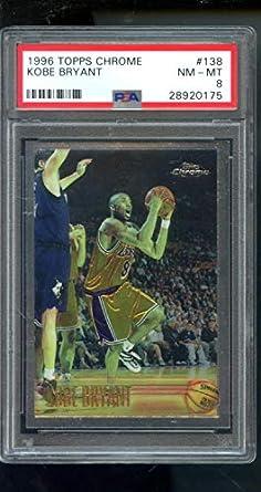 Amazoncom 1996 97 Topps Chrome 138 Kobe Bryant Rookie Rc