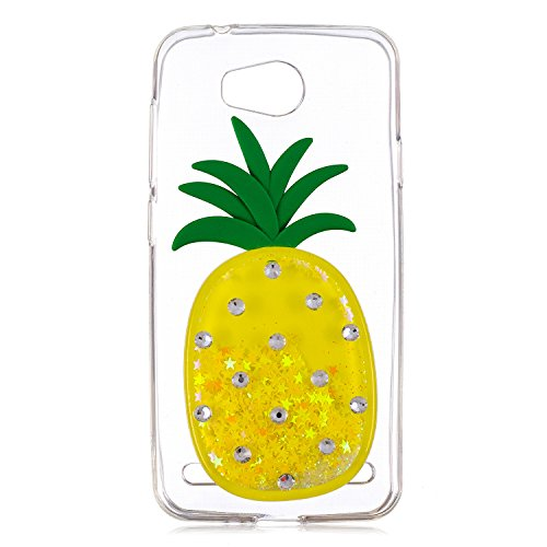 Huawei Y3 2 Case cover,Stingna 3D Liquid Quicksand Glitter Pineapple Soft TPU Case For Huawei Y3 II/Y3 2 (3)