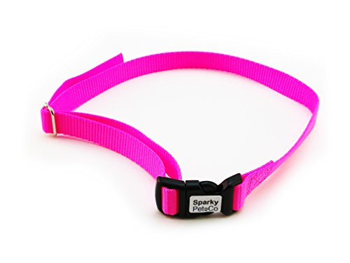 Cheap Sparky PetCo Dog Fence Receiver Heavy Duty 3/4″ Solid No Hole Nylon Replacement Strap, Neon Pink