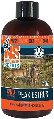 Nationwide Scents Doe Estrus Buck Attractant Whitetail Lure Hunting Scent Natural Urine | Make Deer Scrape (4 oz Bottle)