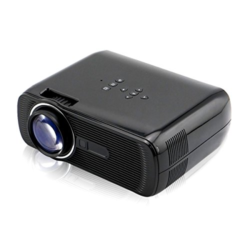 Mini LED Video Home Projector Sourcingbay BL80 1200 Lumens 800 x 480 Home Theater with HDMI/ TV/ VGA/ AV/ USB/ SD interface Support PC TV Box - Black