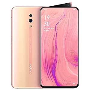 Original Oppo Reno 6GB+256GB Mobile Phone Snapdragon 710 Octa Core 48MP Camera Phone VOOC 3.0 Screen Fingerprint Cellphone Support Google by-(Real Star Technology) (Pink)