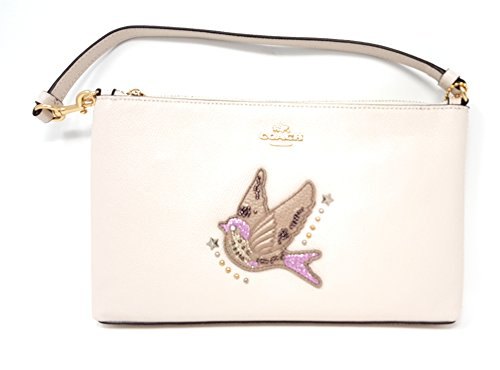 Coach Large Wristlet 25 With Bird Motif by Coach